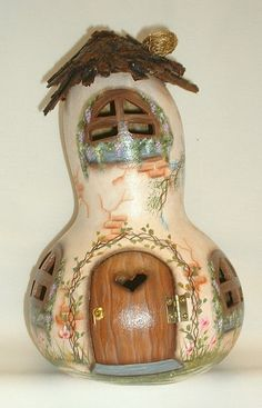 Light Up Gourd House