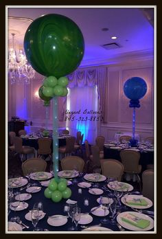 Incredible Bar Mitzvah decor by the talented Anne Cahill McGovern from Elegant Balloons using Sparkle Ribbon® by Sparkle Lites®