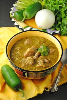 """Chile Verde…"" This is real, comforting, stick-to-your-ribs Mexican food. I can't think of anything better! ""Chile Verde…"" This is real, comforting, stick-to-your-ribs Mexican food. I can't think of anything better! Authentic Mexican Recipes, Mexican Food Recipes, Authentic Chili Verde Recipe, Latin Food Recipes, Real Mexican Food, Mexican Desserts, Chili Recipes, Pork Recipes, Cooking Recipes"