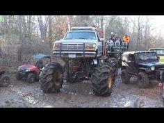 GIANT TOYOTA, GMC, CHEVY & JEEP MUD TRUCKS KILLIN IT AT SABINE RIVER RATS! - YouTube Jacked Up Trucks, Big Trucks, Mudding Trucks, Rats, Tractors, Chevy, 4x4, Jeep, Monster Trucks