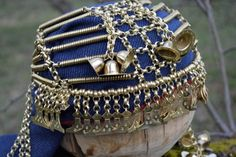 Reproduction of Late Iron Age Baltic (Semigallian ?) bronze headdress made by Uģis Drava in Latvia. Not Norse or Viking. Senās Rotas - ancient jewelry, Latvia.