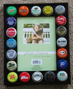 Beer bottle caps on pinterest beer bottle caps bottle for Beer bottle picture frame