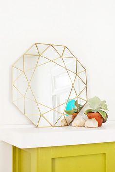 A Faceted Gem Mirror DIY
