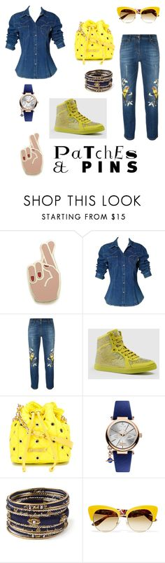 """""""#2"""" by madalina-bailesteanu on Polyvore featuring Georgia Perry, Moschino, Roberto Cavalli, Gucci, Vivienne Westwood, Amrita Singh, Dolce&Gabbana and patchesandpins"""