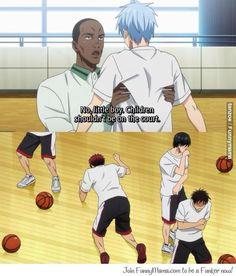 Kuroko no basket - I got a feeling that kuroko Will be pretty dangerous and scary if he is really angry like kagame angry