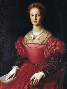 Agnolo Bronzino - Lucrezia Panciatichi at Uffizi Gallery Florence Italy