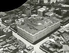 Aerial photo of Anthony Hordern & Sons,in Sydney.It was at one time the largest department store in Sydney and the world.