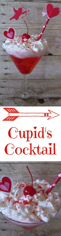 Cupid's Cocktail, a spruced up Shirley Temple that is sure to delight.