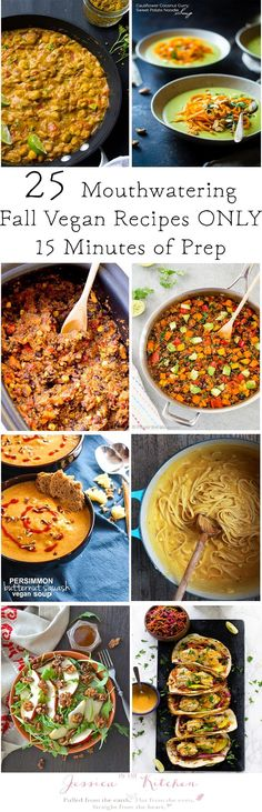 25 Mouthwatering Fall Vegan Dinner Recipes You Can Prep in 15 Minutes