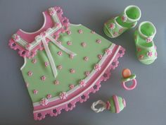 Baby Dress & Baby Shoes by Art Cakes, via Flickr
