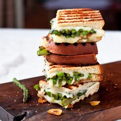April is Grilled Cheese Month! Try Goat Cheese and Asparagus Grilled Cheese by foodiebride