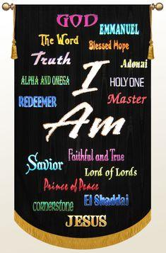 Multicolor Names of God banner