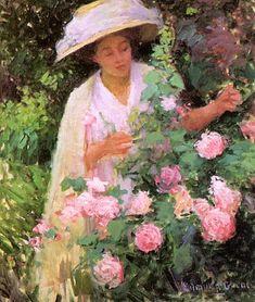 Edmund William Greacen ~ Roses ~ (American: 1876-1949)