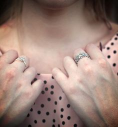 Brisbane-based blogger Ashleigh McCallum of 'The Blonde Silhouette' has completed her vintage barbie look with PANDORA's Dazzling Daisy rings in sterling silver. #PANDORAring #PANDORAstyle