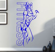 2016 new home Vinyl Decal Wall Sticker Fitness Body Girl Gym Sport Workout Decoration free shipping #Affiliate