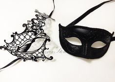 New Year's Party Mask His & Hers Phantom Masquerade by 4everstore