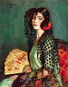 Flamenco Dancer Artwork By George Owen Wynne Apperley Oil Painting & Art Prints On Canvas For Sale Spanish Girls, Spanish Woman, Spanish Art, Spanish Gypsy, Mona Lisa, Spanish Painters, Portraits, Portrait Ideas, Foto Art
