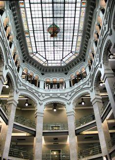 http://guias-viajar.com/madrid/ Interior del Palacio de Cibeles en Madrid