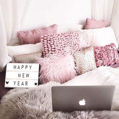 Schlafzimmer rosa gemütlich