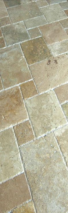 Travertine Floor--Love for the french provincial kitchen or a bathroom                                                                                                                                                                                 More