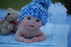 OOAK Polymer Clay Full Sculpt Baby Travis by Tatyana