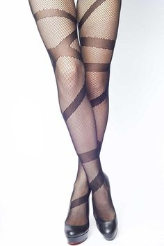 Socks + Stockings | Classy Winter, Spring and Summer Stockings Perfect for Dress, Shorts and Skirts. | Mason & Ivy | Black Fishnet Tights for Women