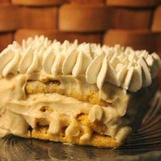 Pumpkin Tiramisu : This is a twist on a traditional Tiramisu. Enjoy! #desserts #dessertrecipes #yummy #delicious #food #sweet