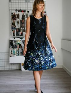 Belle, our fit model, loves to frock up.