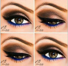 Gorgeous smokey eye with a hint of blue
