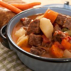 Today I'm featuring a pressure cooker Beef Stew recipe from Lana, Never Enough Thyme. Lana loves the convenience of a pressure cooker and uses her old, old, old stove top pressure cooker quite often.