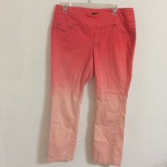 Jag orange/ombré jeans leggings size 10 Super comfy size 10 Jag jeans/leggings (faux zipper). JAG Pants Leggings