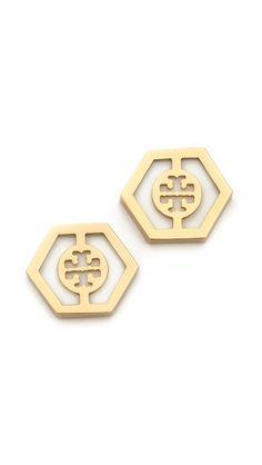 Tory Burch hexagon studs