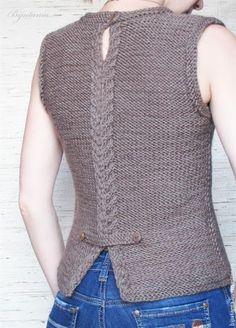 Best Knitting Models for Women - Tricot Diy Crafts Knitting, Diy Crafts Crochet, Crochet Buttons, Hand Knitted Sweaters, Knit Vest, Jacket Pattern, Crochet Shawl, Knitting Designs, Pulls