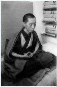 Geshe-la meditating in India