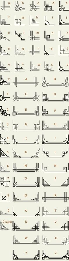 The perfect reference list for Art Deco Letterhead Fonts / LHF Corner Specimens / Scrolls and Borders Motif Art Deco, Art Deco Design, Art Deco Borders, Design Design, Embroidery Designs, Quilting Designs, Modern Embroidery, Cadre Design, Doodles