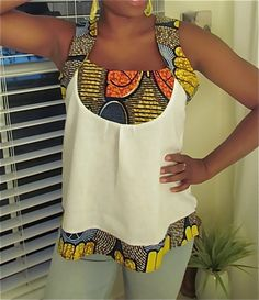 African Top African Blouses, African Tops, African Shirts, African Print Dresses, African Women, African Dress, African Inspired Fashion, African Print Fashion, Africa Fashion