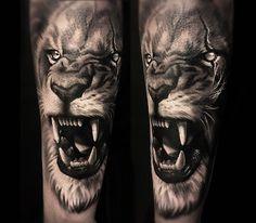 lion tattoo by cox tattoo