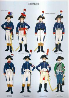 Military Divisions, Etat Major, Army Uniform, Military Uniforms, Empire, Uniform Design, One Republic, French Army, French Revolution