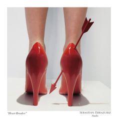 Sebastian Errazuriz designs shoes inspired by former lovers
