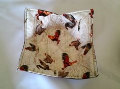 Microwave Bowl Cozy Rooster Brown Hot Pad Trivet Textile Linens Kitchen Pot Holder Hot Pad by CaliSistersCreate on Etsy