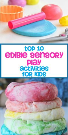 Edible Sensory Play Activities for Kids via @pinnedandrepinn