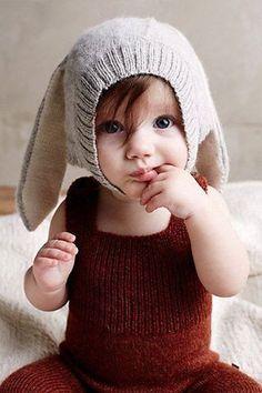 2015 Newest Autumn Ins Oeuf Nyc Baby Boys Girl's Cap Lovely Rabbit Long Ear Hats Knitted Crochet Headgear Soft Warm Baby Kostüm, Baby Kids, Baby Newborn, Cute Kids, Cute Babies, Little Ones, Little Girls, Accessoires Photo, Ear Hats