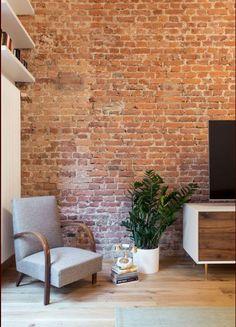 Mur en briques d'Albi.. - A intégrer dans la décoration - du salon-salle à manger