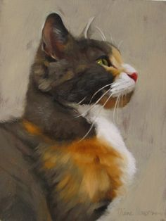 An art blog featuring cat paintings and fine art by Cleveland, OH artist, Diane Hoeptner.