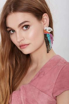 Melody Ehsani See Me Parrot Earrings