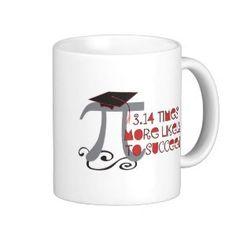 """Funny Math Pi Senior Graduate - Graduation Gift Classic White Coffee Mug (<em data-recalc-dims=""""1"""">$16.95</em>)"""