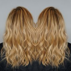 Fresh highlights to kick off a warm and sunny weekend! Dimensional blonding by Kelly of Kelly Hylton and Co. Beach waves, soft curls