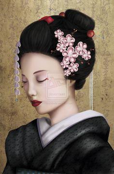 Google Image Result for http://th08.deviantart.net/fs71/PRE/i/2010/118/e/c/Geisha_by_mayazabeille.jpg