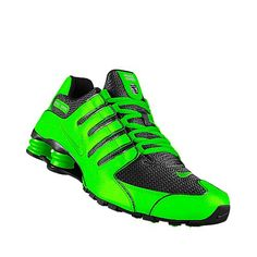 Nike Shox Green And Blue