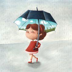 Happy umbrella  Illustration by Arianna Usai